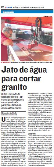 NEWSPAPER ARTICLE CACHOERIO
